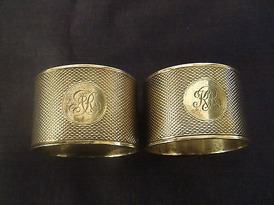 Vintage Pair Solid Silver Napkin or Serviette Rings Sheffield 1993 VGC 90grms.