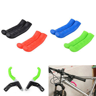 1 Pair Brake Handle Silicone Sleeve Mountain Bike Brake Lever Protection Cover G