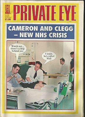 Private Eye Mag # 1286  15 April 2011 NHS Crisis Tory Coalition Nick Clegg cover