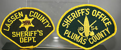 Obsolete California Lassen & Plumas County Police Shoulder Patches