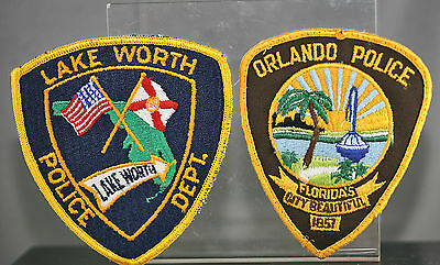 Obsolete Florida Orlando & Lake Worth Police Shoulder Patches
