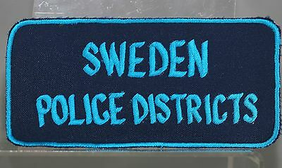 Obsolete Sweden Police Districts Jacket Patch