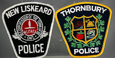 Obsolete Canadian Thornbury & New Liskeard Police Shoulder Patches