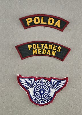 Obsolete Indonesian Medan Provincial Traffic Police Shoulder Patches