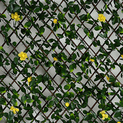 Artificial Leaf Hedge Screening Garden Expanding Privacy Screen Flowers 1m x 2m