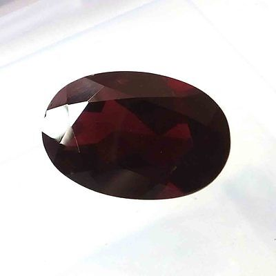 20.50 Carat Big Natural Unheated African Red Garnet Oval Cut Faceted Gemstone