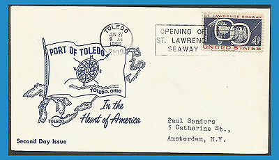 États-Unis 1959 670 FDC St Lawrence Seaway Port of Toledo - Armoiries - Aigle