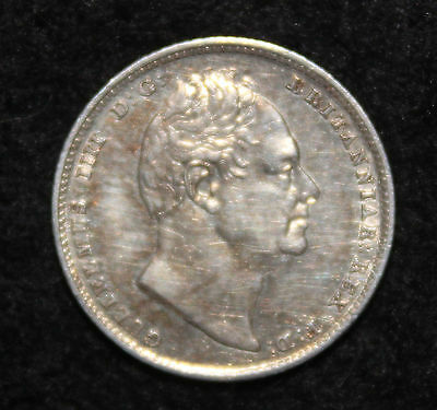 King William IV 1835 Silver Sixpence 6d Near Extremely Fine