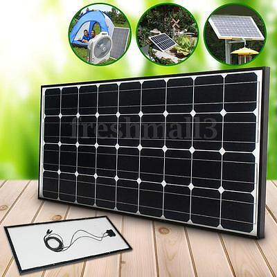 100W 12V solar panel with 5m MC4 for Battery Motorhome Camper Caravan Boat Home