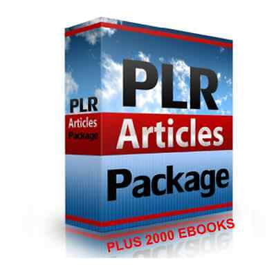300,000 PLR Articles + 2000 Ebooks With Master Resell Rights
