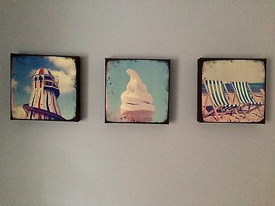 BHS Chunky Canvas Pictures (x3)