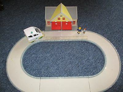 Fireman Sam & Norman Price Figures With Fire Station, Ambulance & Road Track