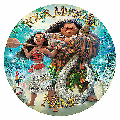 """Moana. Personalised Birthday Party Cake Topper. Edible print on icing 7.0"""""""