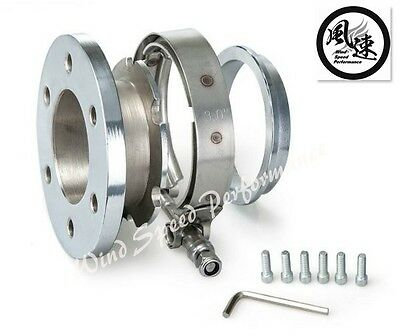 Universal Epman 6-Bolt Turbocharge Exhaust Down Pipe Ss V-Band Clamp Flange