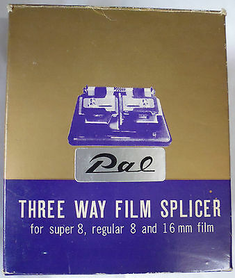 Three Way Universal Film Splicer for Super 8 ~ Regular 8 ~ 6mm Films