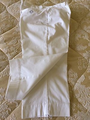 Ladies size 10 Glenmuir white cropped trousers