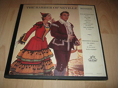 3 Vinyl LP: Rossini, The Barber of Seville, Callas, Gobbi, Alceo Galliera