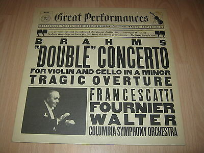 Vinyl LP:Brahms Double Concerto for Violin cello, Fournier, Francescatiti Walter