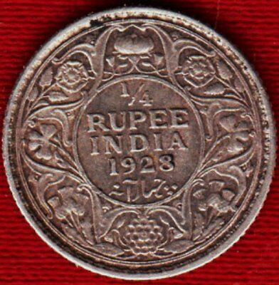 British India 1928 1/4 Rupee *VF*