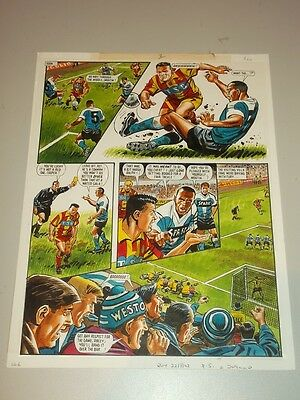 Roy Of The Rovers Football Original British Weekly Comic Art