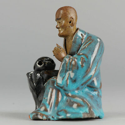 Antique ca 1900 Chinese Porcelain SHiwan Statue Of A Figure Immortal China Qing