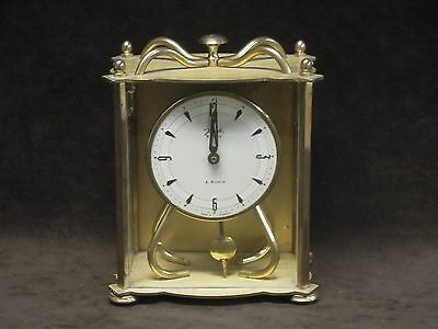RARE   old jauch table clock ...1950-60   8 days...4 rubis....clock parts...see