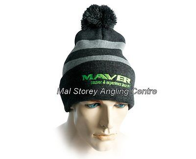 Maver Black And Grey Knitted Beanie Hat
