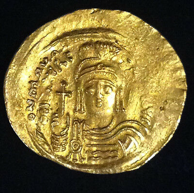 Ancient Byzantine Gold Solidus Maurice Tiberius 582-602 Constantinople