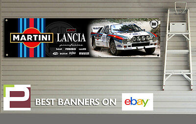 Martini Lancia Rally 037 Garage Banner for Workshop, Garage, Retro, Pininfarina