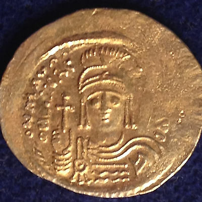 Ancient Byzantine Coin Gold Solidus Maurice Tiberius 582-602 Constantinople Mint