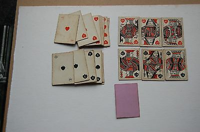 Antique Playing Cards wash backs small cards