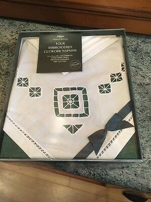Embroidered Napkins New In Box