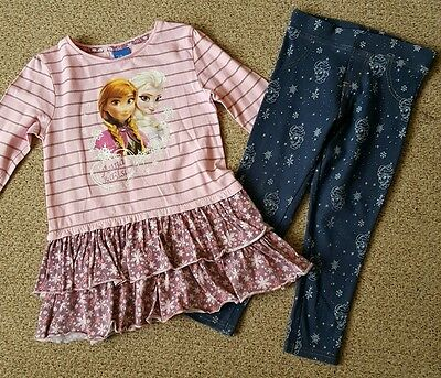 Girls Frozen outfit Top and Jeans Age 3-4yrs