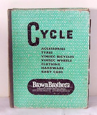 Cycle Brown Brothers catalogue 1959 Accessories Tyres Bicycles Hardware Baby Car