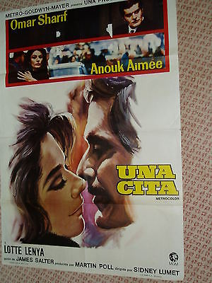"""FILM POSTER....""""Spain""""...1969......THE APPOINTMENT.....Omar Sharif +"""