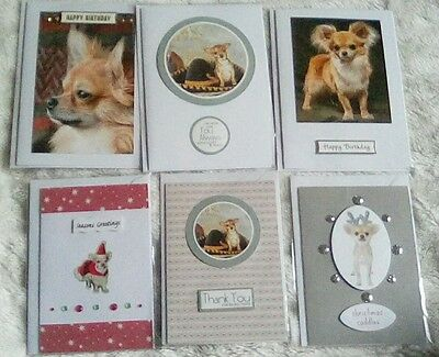 Chihuahua Handmade Greeting cards Pack of 6