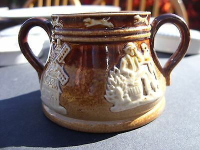 Doulton Lambeth England Miniature Two Handled Cup