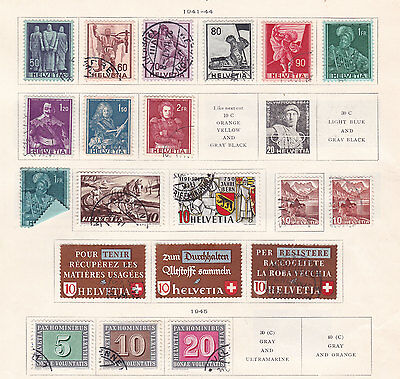 SWITZERLAND ^^^^^1941-49      used collection ( 2 pages) hcv  @f5011xxbsws