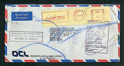 1981 GB Airmail cover to Hong Kong (returned) with Nice Instructional  Marks