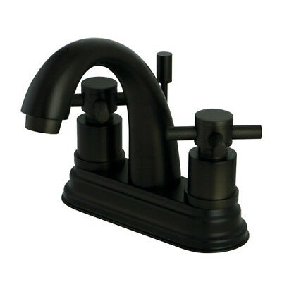 Kingston Brass Concord Double Handle Centerset Bathroom Faucet with Pop-Up Drain