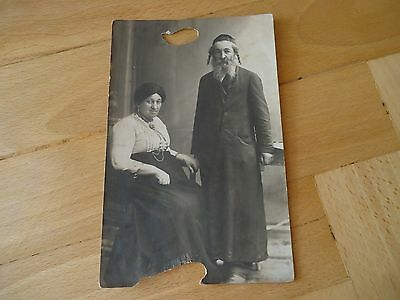 Rare Antique Real Picture Photo Jewish Rabbi Vtg Cracow Poland Judaica