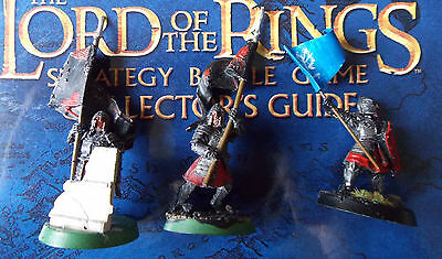 Games Workshop Lord Of The Rings Metal Minas Trith Standard Bearers X 3