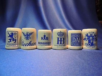 6 German Mini Beer Related Mugs/steins