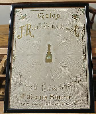 Champagne Roussillion Illustrated Victorian Music Cover