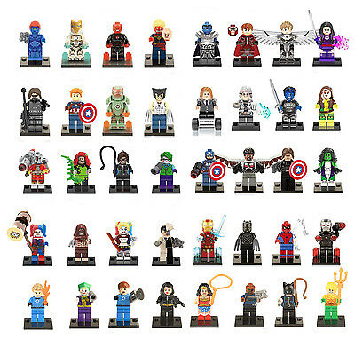 Lot of 40 sets DC Marvel Super Heroes Minifigures building toys new in bags