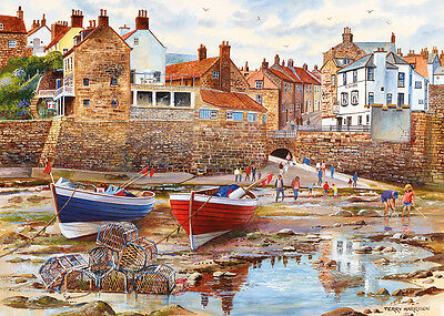 GIBSONS JIGSAW PUZZLE 1000 PIECES Robin Hood's Bay by TERRY HARRISON G6189