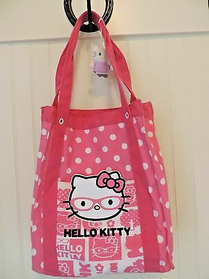 Hello Kitty canvas tote book bag pink purse