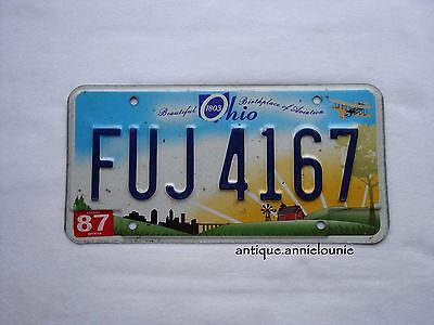 OHIO WOOD County Vintage License Plate # FUJ 4167
