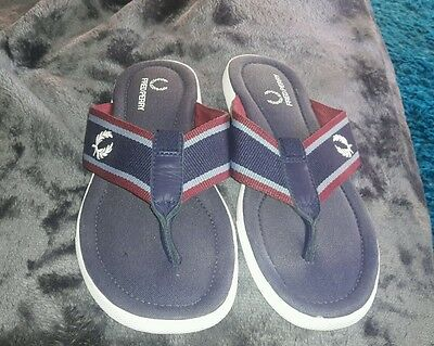 mens fred perry flip flops
