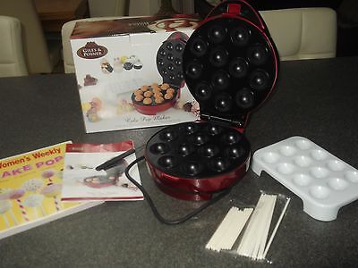 Giles & Posner Cake Pop Maker + Accessories  PLUS Free Woman's Weekly Cookbook